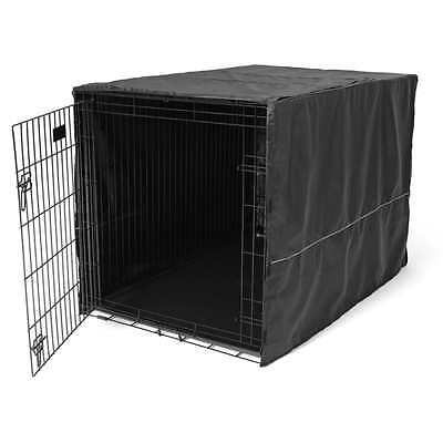 """Black 48"""" 1 Crate Cover Kennel For Door Pet Cage Folding Dog Cat Polyester New"""