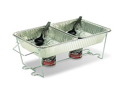 Buffet Chafer Set Food Warmer Chafing Dish Pan Tray Stand Catering Server Party