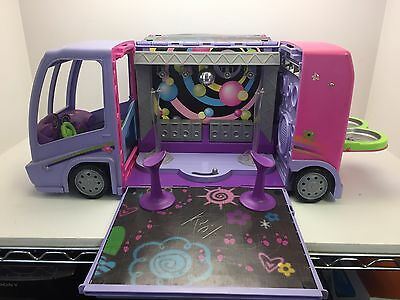 Barbie Glam & Jam Concert Tour Bus Purple 2001 (G6)