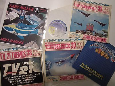"""lot of 6 GERRY ANDERSON SINGLES incl.45rpm.""""STINGRAY"""""""