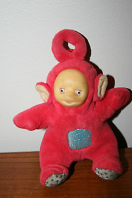 Vintage Teletubbies Figure Laa Laa Po Sings Song Advertising Stuffed Plush