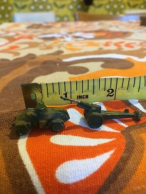 vintage lead soldier anti aircraft gun ? Trailer And Tank Military Vehicle