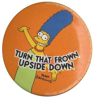 The Simpsons Marge Turn that Frown Upside Down 1 inch button badge Official