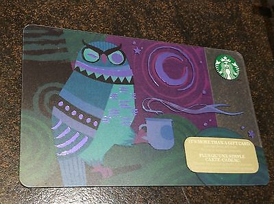 """STARBUCKS Canada: (SB #82) """"Owl"""" Collectable Gift Card"""