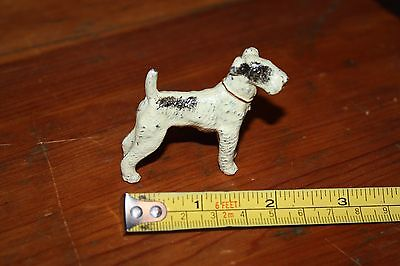 Vintage Miniature Painted Metal/Lead Wire Hair Fox Terrier/Dog Figurine/England
