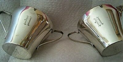Manchester Solid Sterling Silver Cream and Sugar Cups 203 Grams