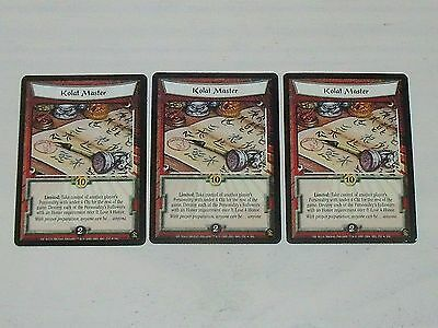 Kolat Master x3 Gold Edition - L5R Legend of the Five Rings