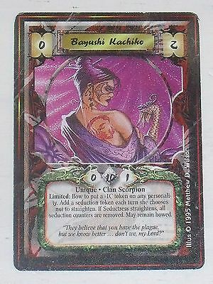 """Bayushi Kachiko """"Plague"""" Flavor Pre-Imperial - L5R Legend of the Five Rings"""