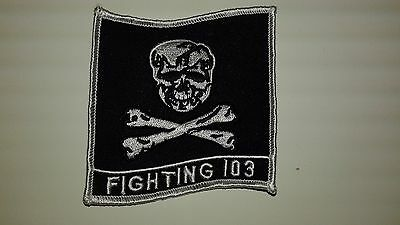 """1 pc New USN FIGHTING 103 Emb. patch SEW/IRON ON. 3X3-1/2"""""""