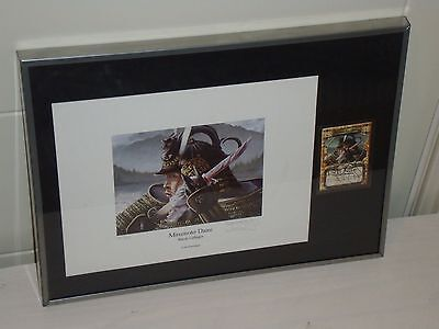 Randy Gallegos L5R Artist - Mirumoto Daini - Signed and Numbered Framed Print