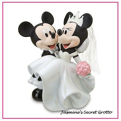 Authentic Disney Minnie And Mickey Mouse Wedding Porcelain Figurine Cake Topper