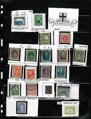 NEWFOUNDLAND  CLASSIC group of 18 STAMPS**  see scan  cat $60.00++ LOT 303 N18