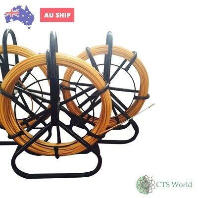 Nbn Telstra Fibreglass Rodder With Free Flexi Head Cable Puller 4.5 Mm X 70Mts