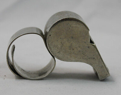 Vintage The Acme Thunderer Made in England Sports Police Ring Whistle