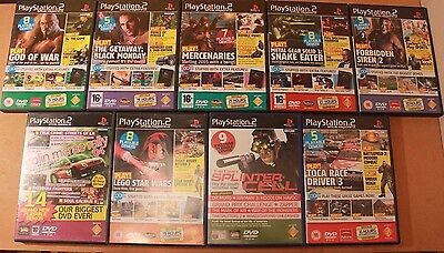 9 Official PS2 Magazine Demo Discs PAL Mar 03-July 06 VGC Play Station Games