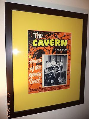 The Beatles//One Of A Kind//Cavern Club Poster From The 1960'S//Rare//Rare//Rare