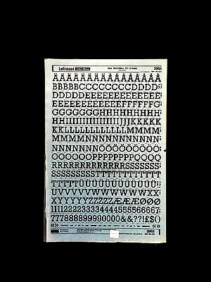 "Letraset instant lettering 10x15"" Sheet, American Typewriter Bold, 48pt."