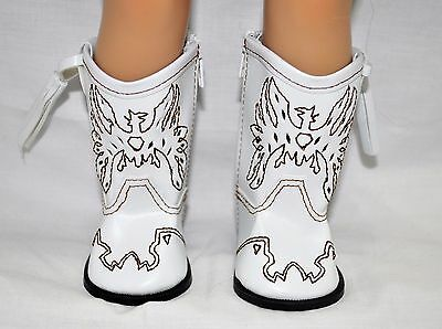 American Girl Doll Our Generation Gotz 18 Doll Clothes White Cowboy Boots