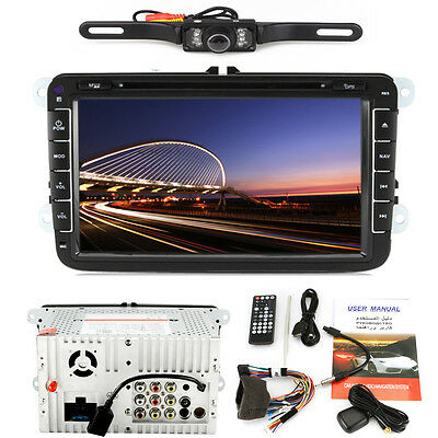 "UKTOP 8"" 2 Din Car DVD Player For VW Volkswagen Magotan Bluetooth GPS TV FM+cam"