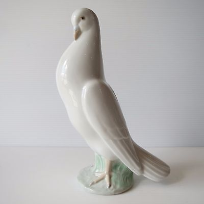 Lladro Large White Dove, Nao Brand, Collectible Spanish Figure, PERFECT!