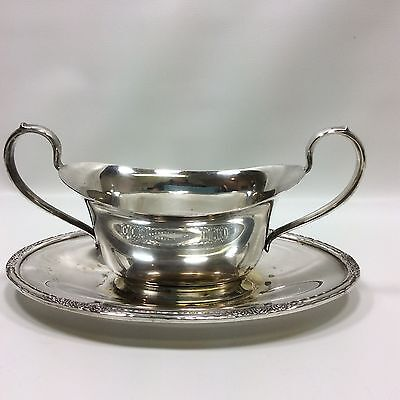 International Silver Co Camille 6013 Silverplate Gravy Sauce Boat
