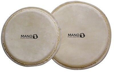 Mano Percussion Bongo Head Replacement Sets In Various Sizes Natural Skin /hide
