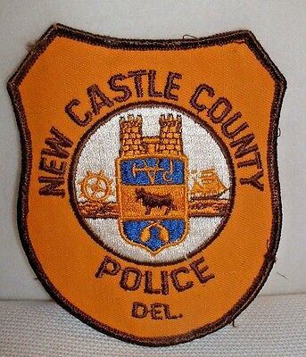 New Castle County Delaware Police Embroidered Patch - Used