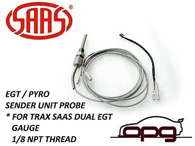 Egt Pyro Exhaust Gas Temp Probe Only Saas Gauge Trax Dual Gauge 1/8 Npt 2 Mtr