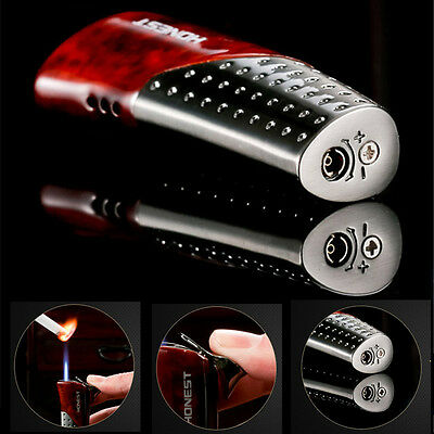 Metal Torch Lighter Jet Flame Butane Gas Cigar Cigarette Lighter