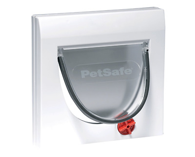 Staywell Petsafe Classic Cat Dog Flap - Manual 4 Way Locking Door, White Tunnel
