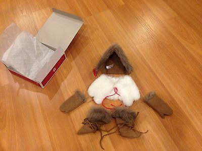 AMERICAN GIRL DOLL KAYA WINTER ACCESSORIES, hat, gloves, cape, boots