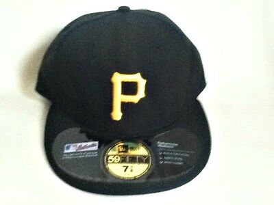 d7497c9dff NEW ERA 59FIFTY Baseball Cap Pittsburgh Pirates Black White Outline ...