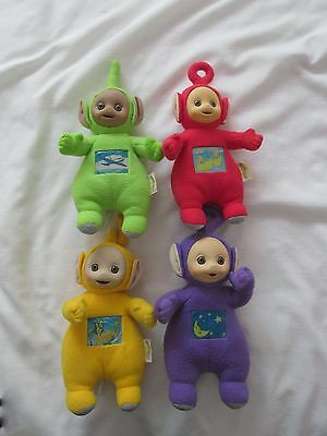 1998 VINTAGE TELETUBBIES TINKY WINKY¤PO¤LAA¤DIPSY¤plush DOLLS LIGHT UP SET 4