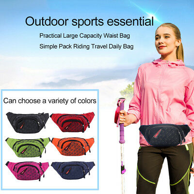Practical Large Capacity Waist Bag Simple Pack Riding Travel Daily Bag GT