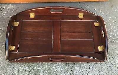 Butlers Table Folding Coffee Table Top Only Vintage Cherry Mahogany