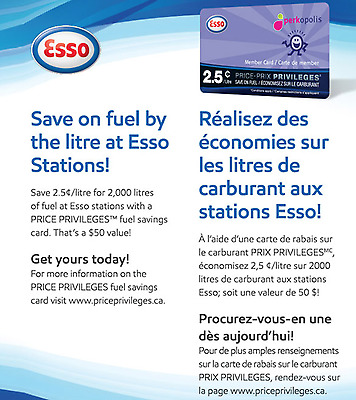 ESSO gas saving card