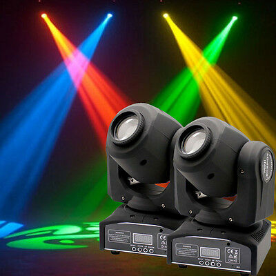2PCS 60W LED RGBW Moving Head Stage Light DMX Club Disco Stage Party Lighting US