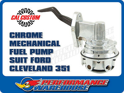Cal Custom Ford Cleveland 351 Chrome Mechanical Fuel Pump 80 Gph