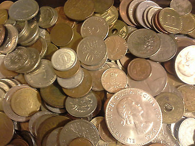 0.25 Lb Quarter Pound Bulk Unsearched WORLD COINS FOREIGN COIN LOT