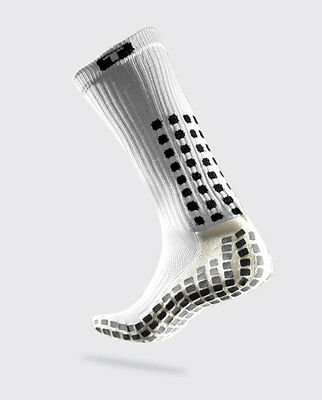 TRUSOX White Mid Calf Cushion Large football baseball soccer rugby cricket socks