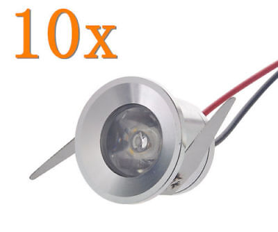 10x 1W LED Ceiling Light Lamp Cabinet Recessed Downlight Indoor Spot Bulb Warm