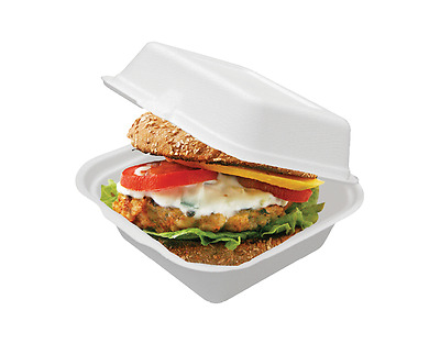 100 Foam Clam Burger Snack box Take Away Containers Boxes, super cheap