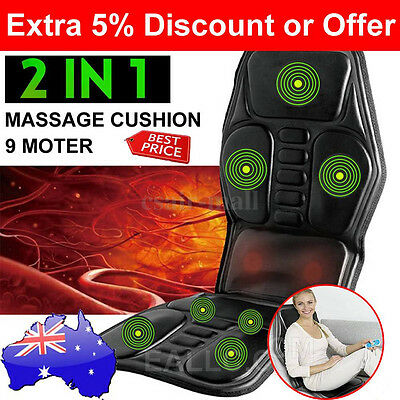 9 Motor 2 IN 1 Massaging Back Car Massage Seat Massager Chair Cushion For office