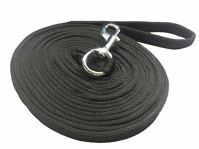 Nylon Lunging Reins Horse Training Aid Lung Line Lunging Rope 8 & 4 Meter Black