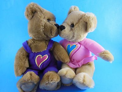 Hallmark Kiss Kiss Valentines Day  Love Teddy Bears Magnetic 10""