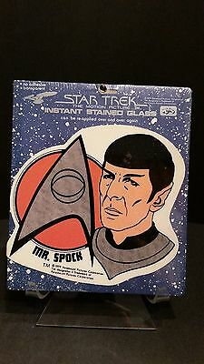 New StarTrek the Motion Picture Instant Stained Glass Spock 1979 Leonard Nimoy