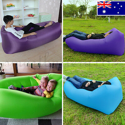 Outdoor Air Sofa Inflatable Lounge Sleeping Camping Bed Air Hammock for Beach