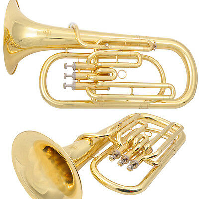 Advanced Baritone Horn Durable quality W/ Mouthpiece Case excellent sound