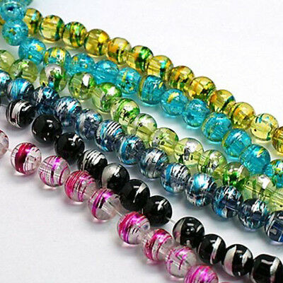 Lots Mixed Czech Glass Loose Spacer Charms Beads For Jewelry Findings 6mm DIY