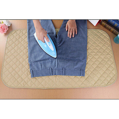 Portable Iron Blanket Travel Easy Ironing Pad Mat Folding Roll Up Heat Resistant